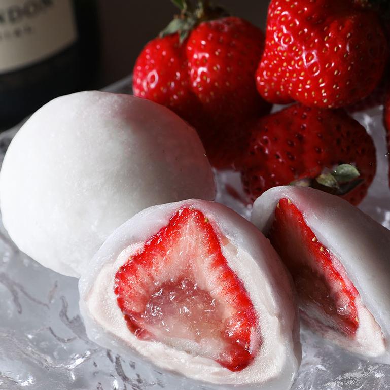バレンタインに喜ばれるおすすめ和菓子 reverence シャンパンいちご大福